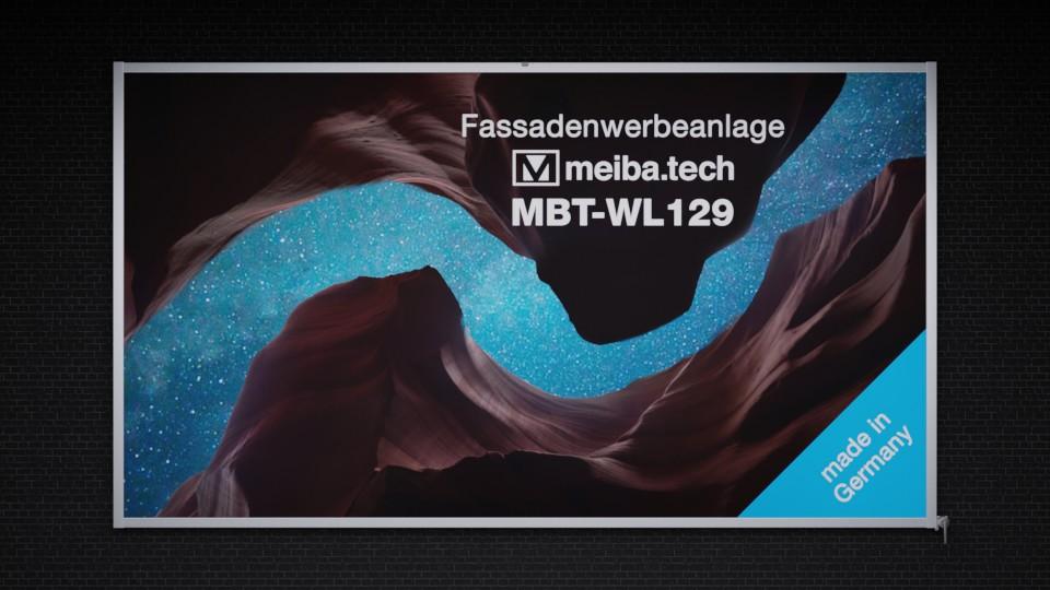 Sistema de publicidad de fachada MBT-WL129 con elevador de lona
