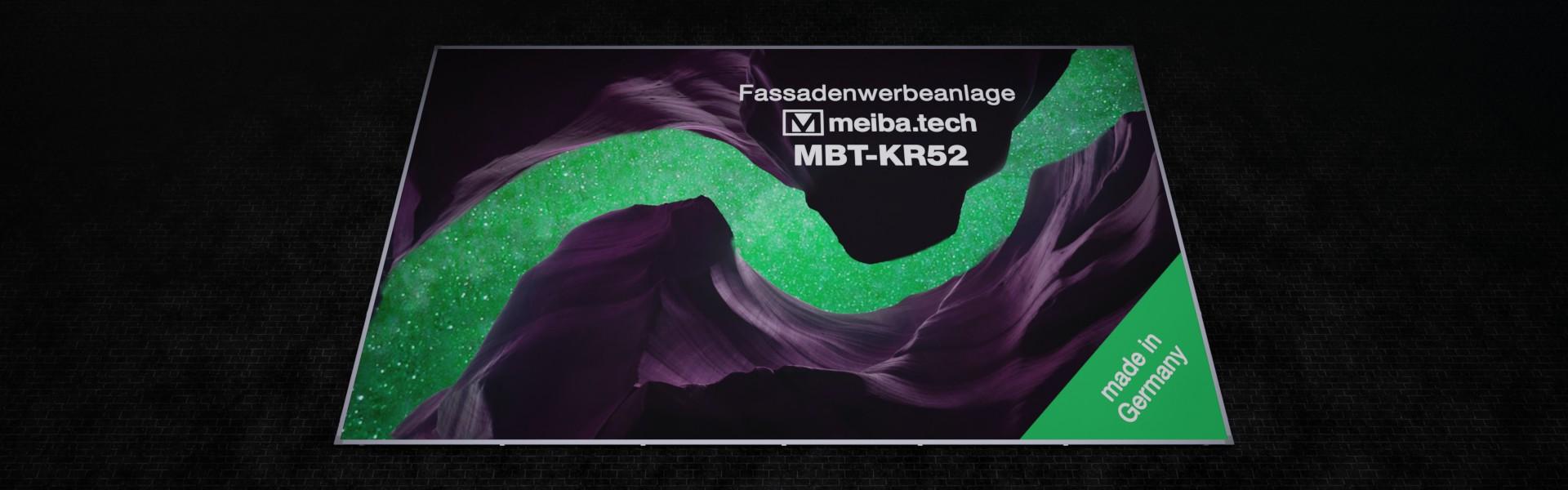 Werbeanlage MBT-KR52 für langfristige Bannerwerbung an Fassaden, untere Ansicht