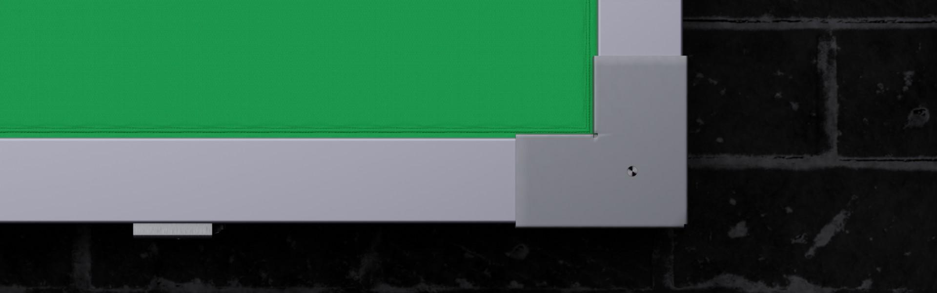 MBT-KR52 Detailansicht Aluminium-Profilschienen und Spannecke